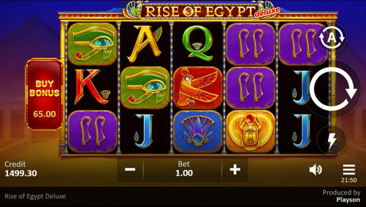 Скриншот слота Rise of Egypt Deluxe